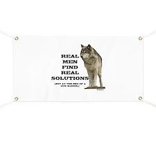 """Real Men Find Real Solutions Banner"