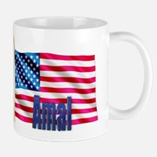 Amal Personalized USA Flag Mug