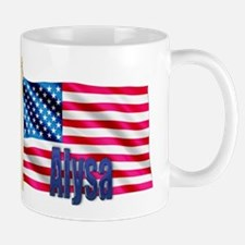 Alysa Personalized USA Flag Small Small Mug