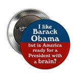 Ten Obama the Brainy President Buttons