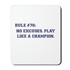 Rule 76 Mousepad