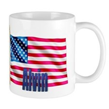 Alvin Personalized USA Flag Mug