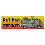 Retired Shriners Bumper Sticker