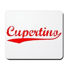Vintage Cupertino (Red) Mousepad
