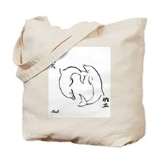 Yin-Yang Dolphins Tote Bag
