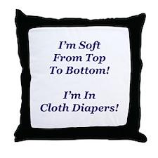 Cloth Diaper Advocacy Throw Pillow