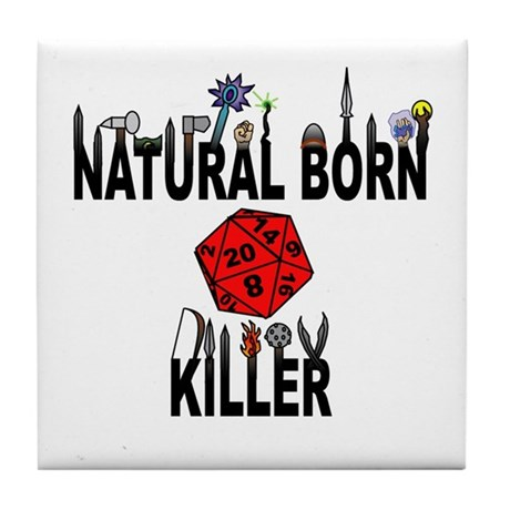 Natural Born Killer D20 Tile Coaster