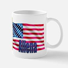 Allena Personalized USA Flag Mug