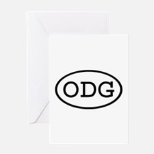 ODG Oval Greeting Card