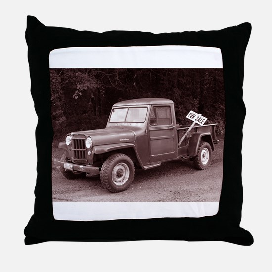 Unique Old car Throw Pillow