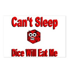 Can't Sleep Dice Will Eat Me Postcards (Package of