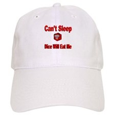 Can't Sleep Dice Will Eat Me Baseball Cap