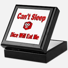 Can't Sleep Dice Will Eat Me Keepsake Box