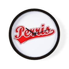 Retro Perris (Red) Wall Clock
