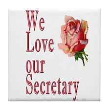 Show your appreciation on Secretary's Day Tile Coa