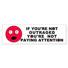 Not Paying Attention Bumper Bumper Sticker