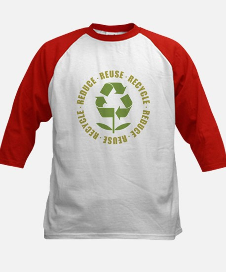 Reduce Reuse Recycle Kids Baseball Jersey