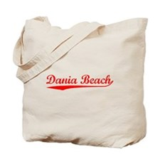 Vintage Dania Beach (Red) Tote Bag