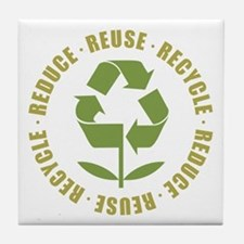 Reduce Reuse Recycle Tile Coaster