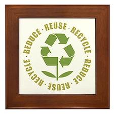 Reduce Reuse Recycle Framed Tile