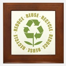 Reduce Reuse Recycle Framed Tile