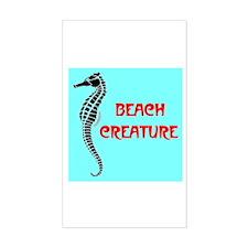 BEACH CREATURE Rectangle Decal