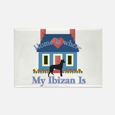 Ibizan Home Is Rectangle Magnet (100 pack)