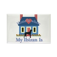Ibizan Home Is Rectangle Magnet (10 pack)