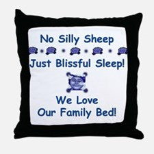 No Silly Sheep! Co-sleeping Advocacy Throw Pillow