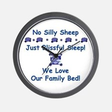 No Silly Sheep! Co-sleeping Advocacy Wall Clock