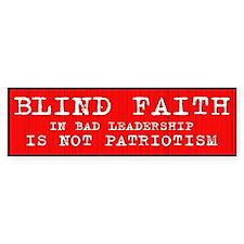 Blind Faith Bumper Bumper Sticker