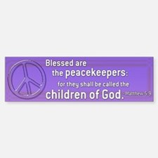 Purple Peace Bumper Bumper Bumper Sticker