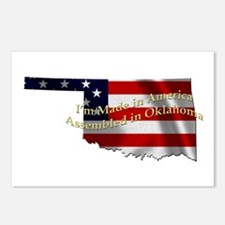 Unique Usa flag statue of liberty Postcards (Package of 8)