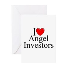 """I Love (Heart) Angel Investors"" Greeting Card"