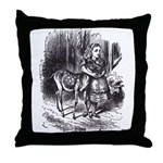 Alice and the Fawn Throw Pillow