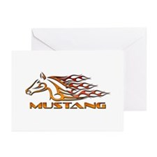 Mustang Tribal Greeting Cards (Pk of 10)