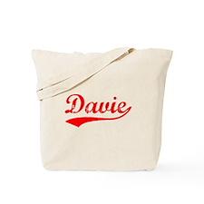 Vintage Davie (Red) Tote Bag