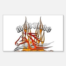 Mustang Tribal with Flames Rectangle Decal