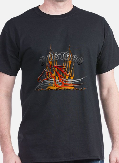 Mustang Tribal with Flames T-Shirt