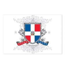 Dominican Republic Shield Postcards (Package of 8)