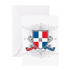 Dominican Republic Shield Greeting Card