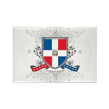Dominican Republic Shield Rectangle Magnet