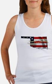 Cute Oklahoma flag Women's Tank Top