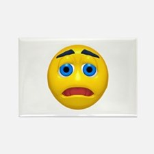 Worried Face Rectangle Magnet