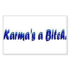 Karma's a Bitch Rectangle Decal