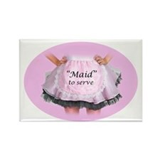 Maid to Serve Rectangle Magnet
