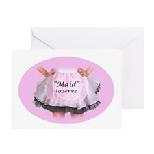 Maid to Serve Greeting Card
