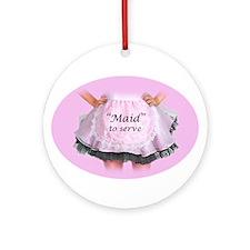 Maid to Serve Ornament (Round)