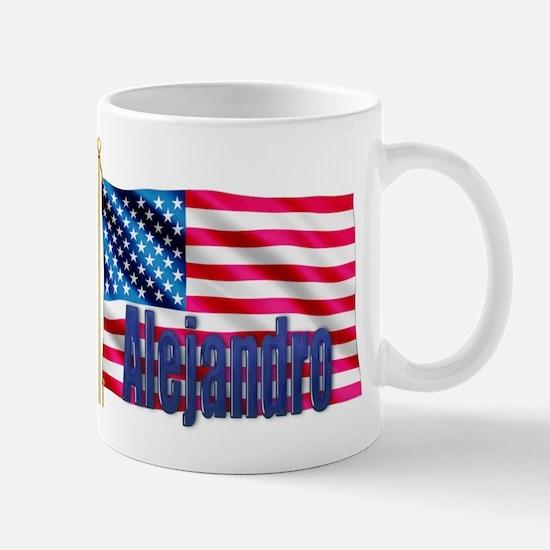 Alejandro Personalized USA Flag Mug