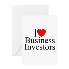 """I Love (Heart) Business Investors"" Greeting Card"